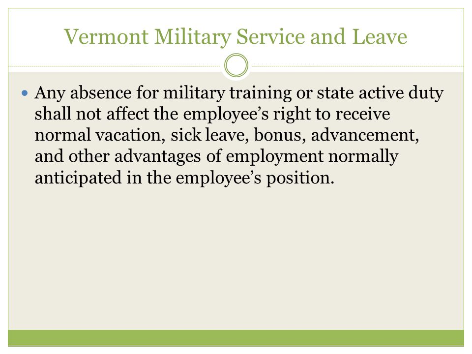 Any absence for military training or state active duty shall not affect the employees right to receive normal vacation, sick leave, bonus, advancement