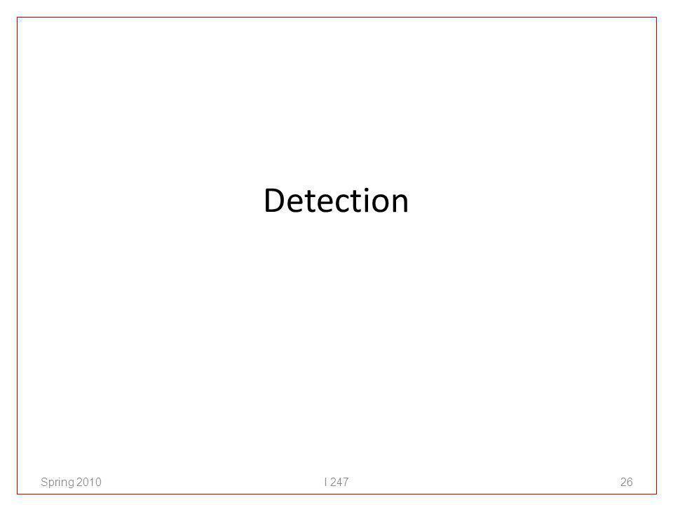 Detection Spring 2010I 24726