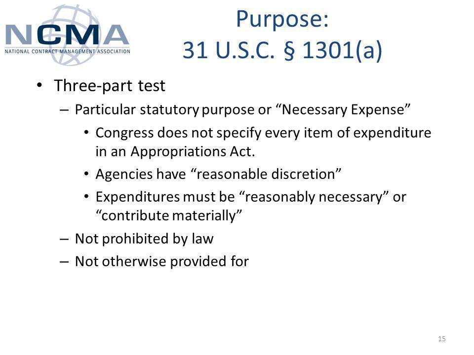 Purpose: 31 U.S.C.