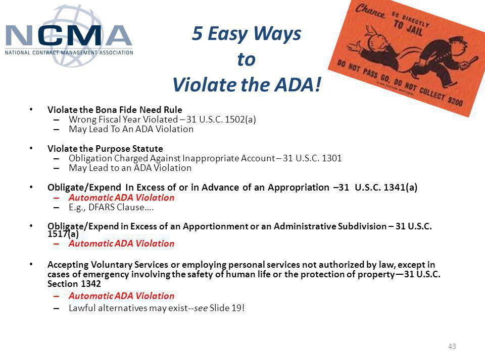 5 Easy Ways to Violate the ADA.