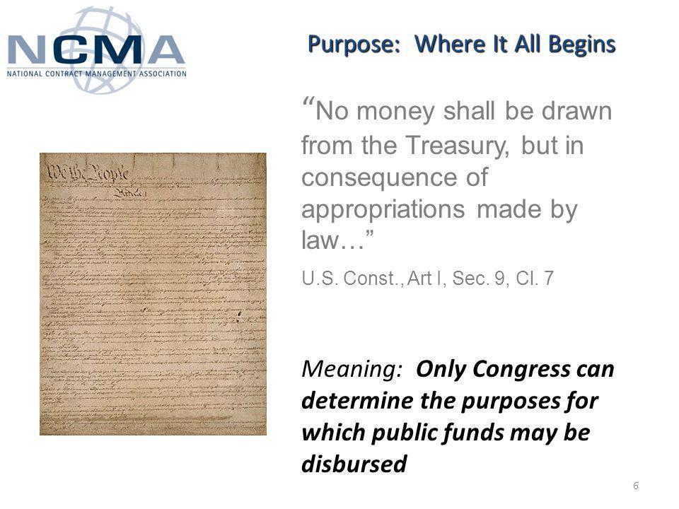 The Purpose Statute 31 U.S.C.