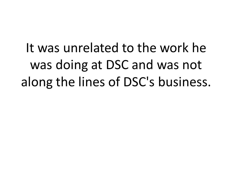 The company demanded Brown disclose his idea to them, and when Brown refused, DSC fired him and filed a lawsuit against him.