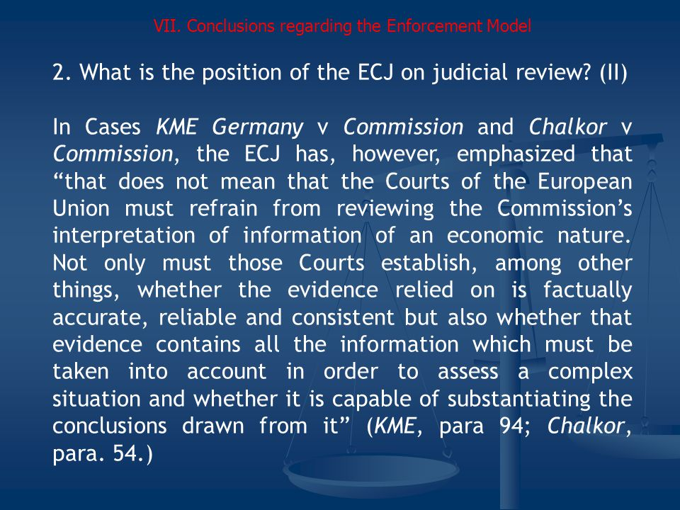 2.What is the position of the ECJ on judicial review.