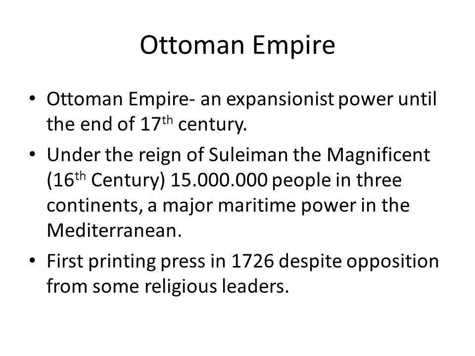 Decline of the Ottoman Empire The Serbian revolution (1804-1815) – beginning of the national wakening.
