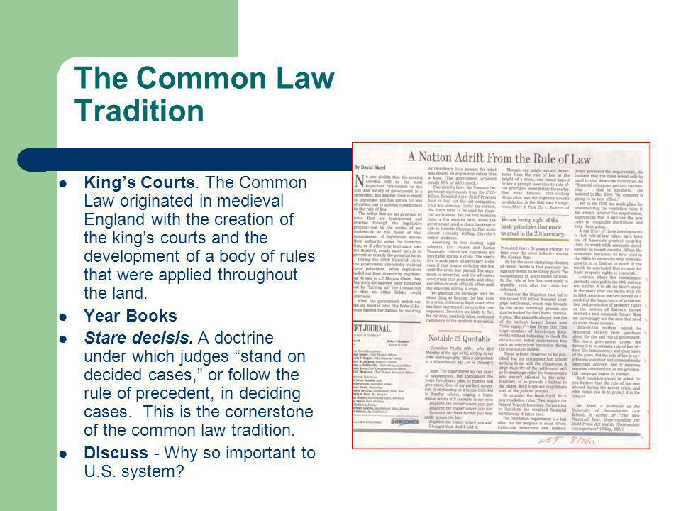 The Common Law Tradition Kings Courts.