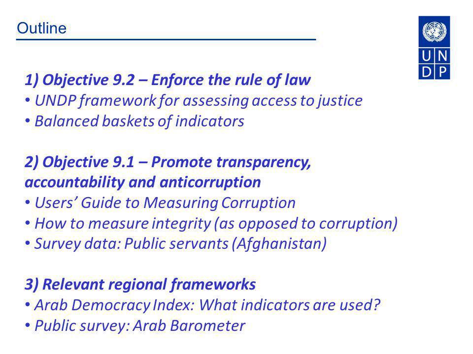 Objective 9.2 – Enforce the Rule of Law