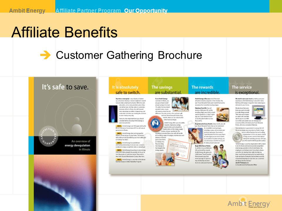 Affiliate Benefits Customer Gathering Brochure Ambit Energy Affiliate Partner Program Our Opportunity