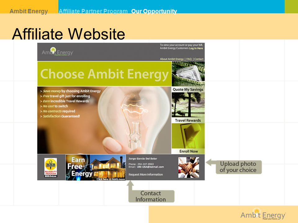 Affiliate Website Ambit Energy Affiliate Partner Program Our Opportunity