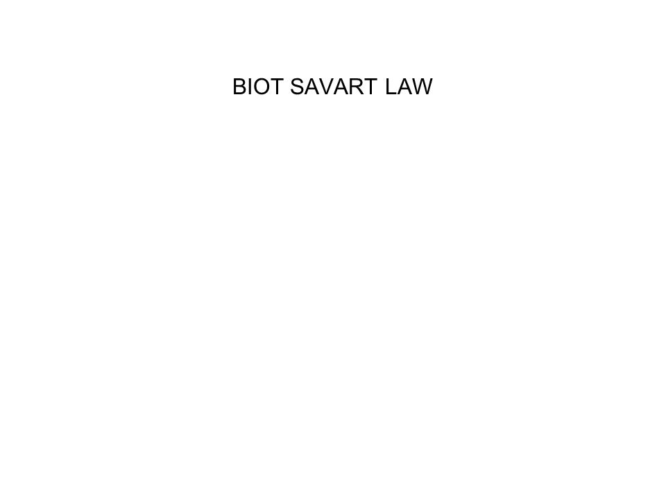 BIOT SAVART LAW