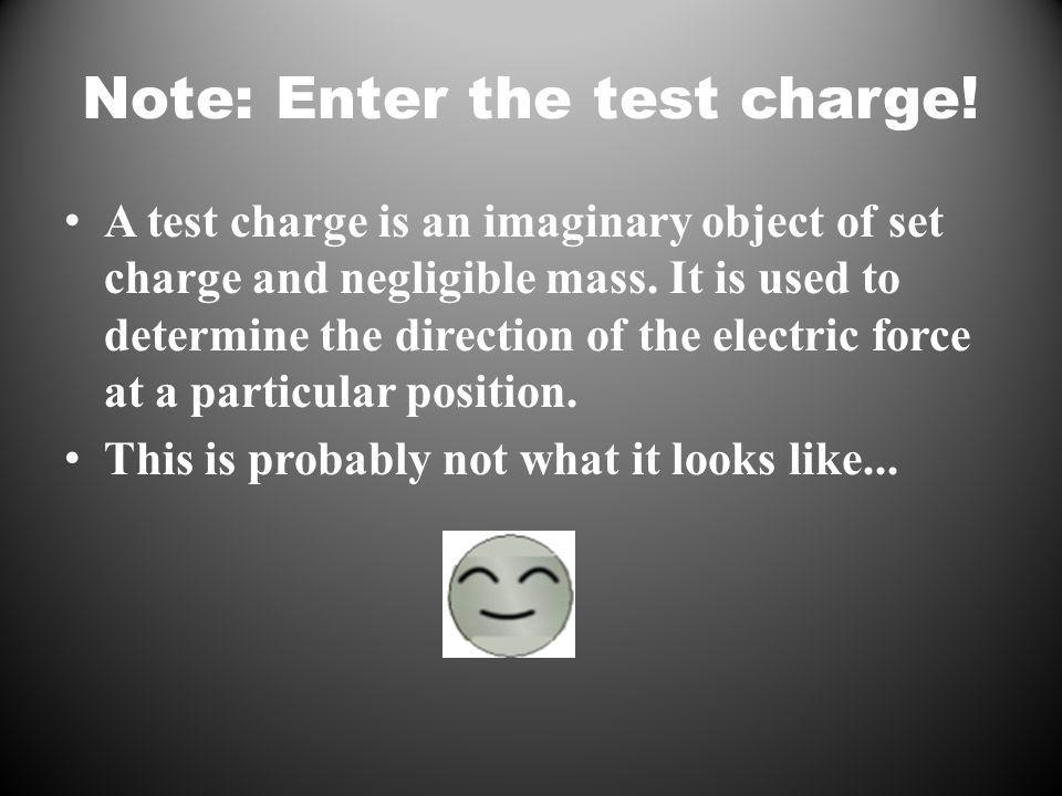Note: Enter the test charge.