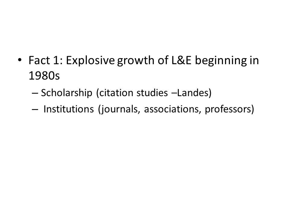 AALS Professors Teaching Law and Economics