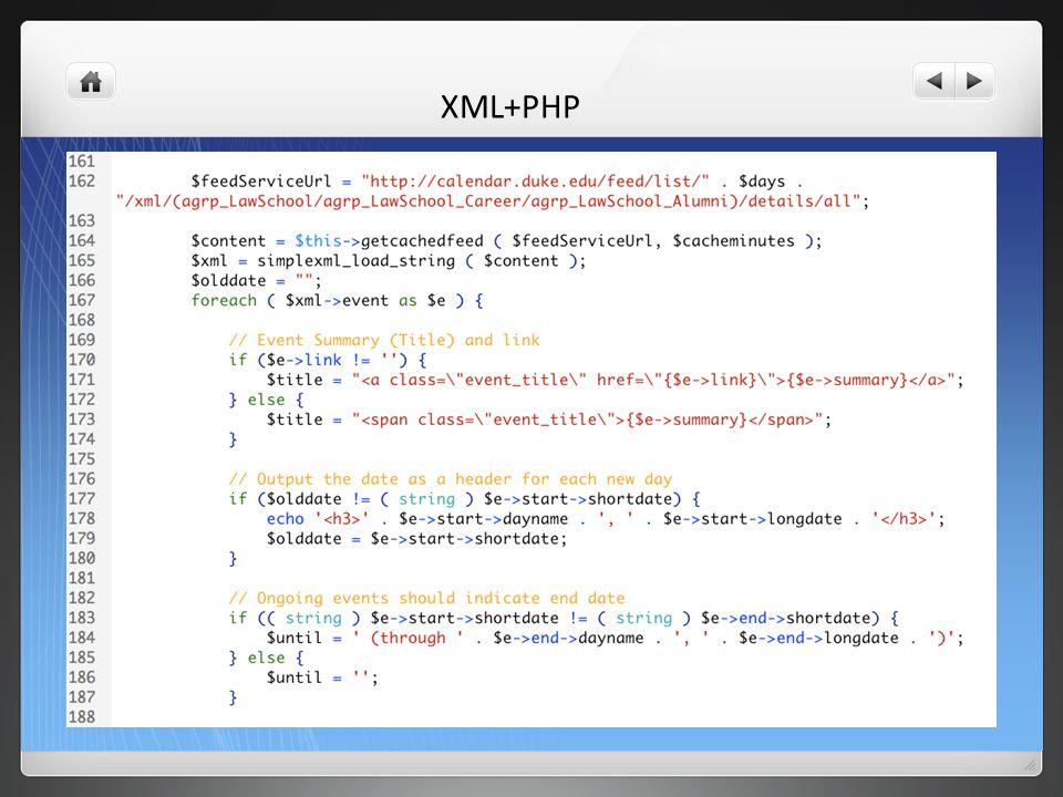 XML+PHP