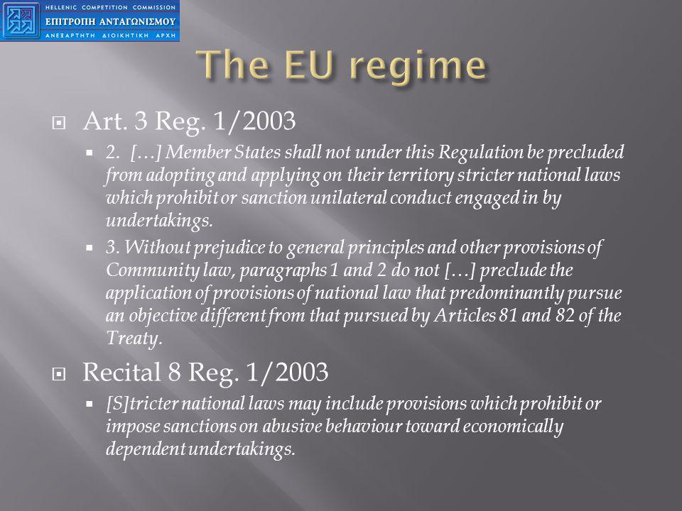 Art. 3 Reg. 1/2003 2.