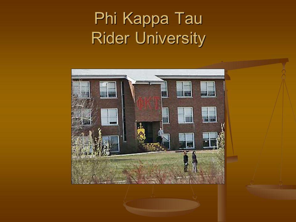 Phi Kappa Tau Rider University