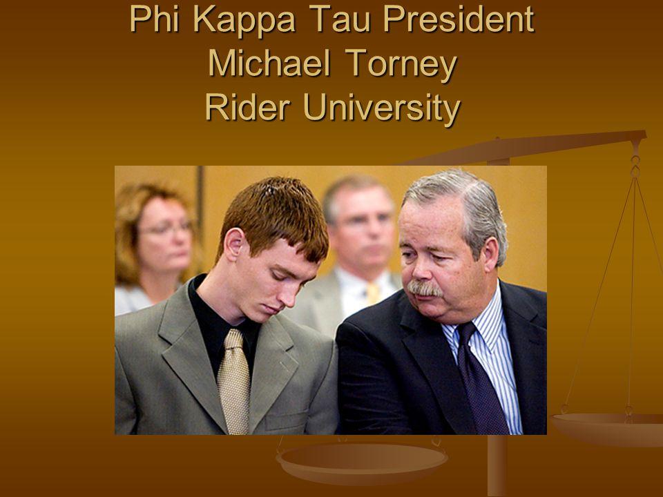 Phi Kappa Tau President Michael Torney Rider University