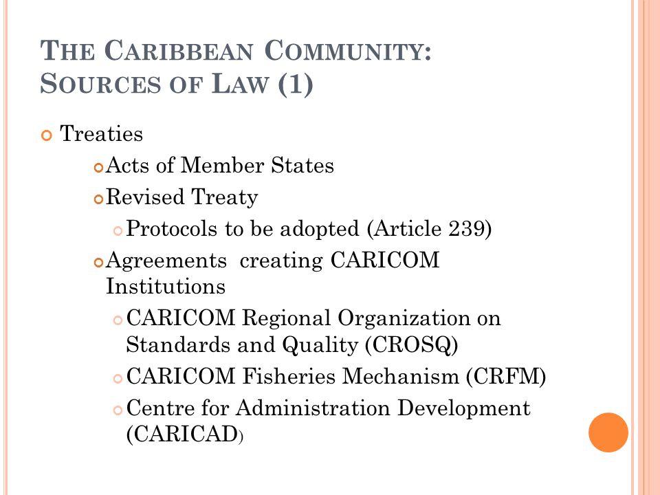 M AP OF THE C ARIBBEAN C OMMUNITY