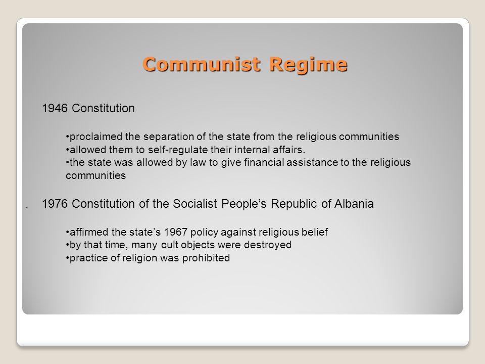 Communist Regime.