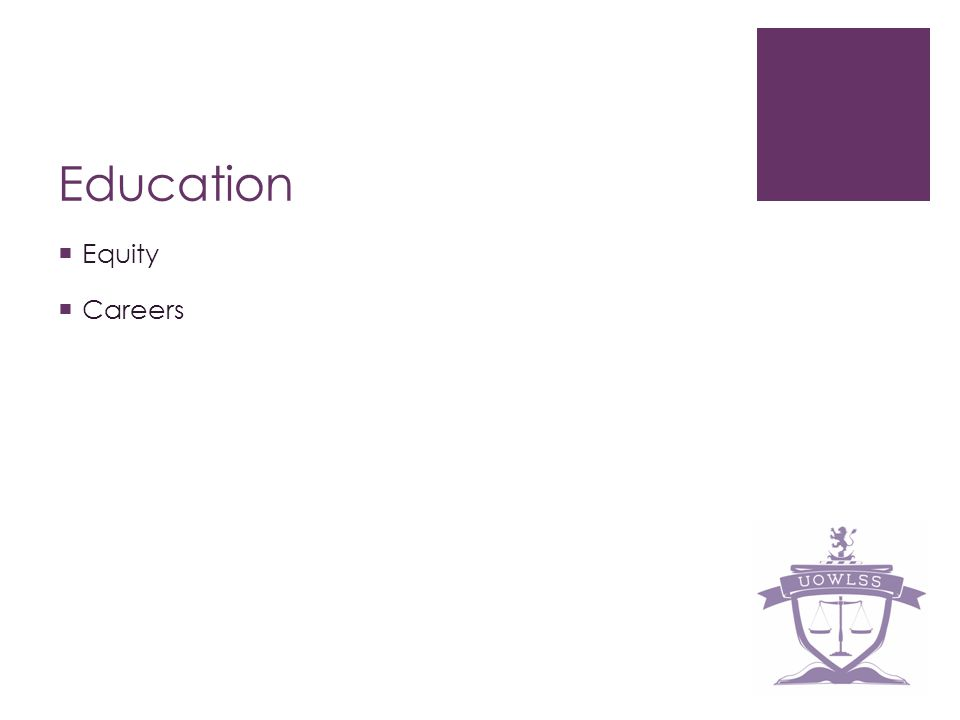 Education Equity Careers