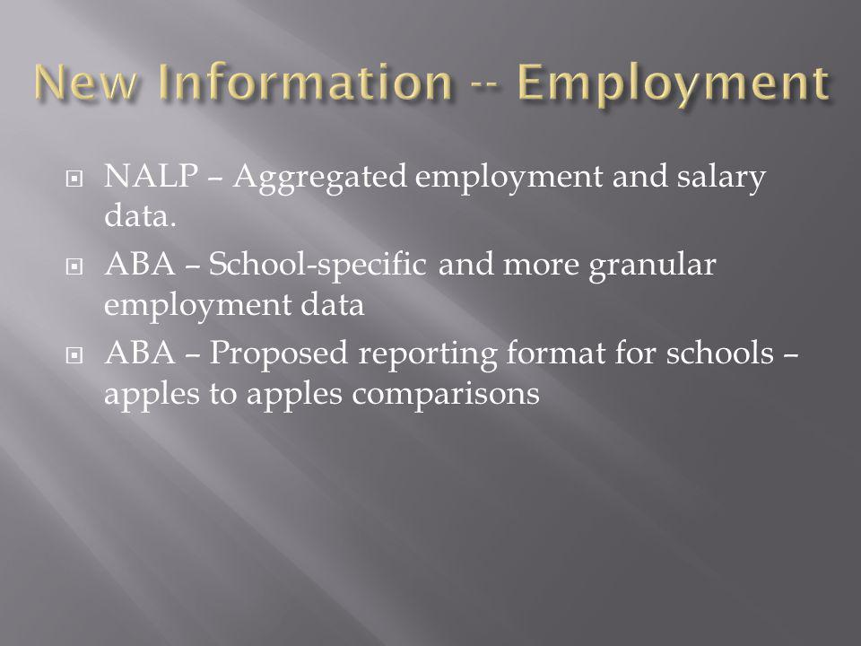 NALP – Aggregated employment and salary data.