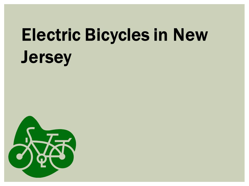 Electric Bicycles in New Jersey