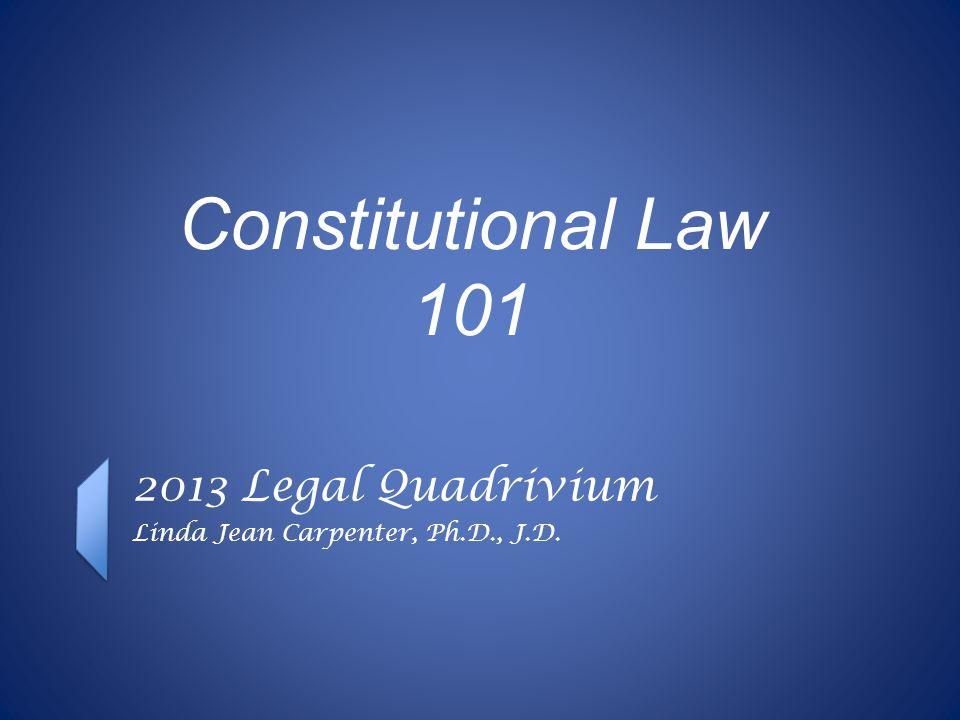 In the beginning... Executive Legislature Judiciary