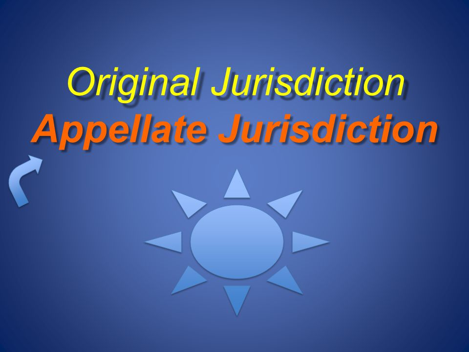 Original Jurisdiction Appellate Jurisdiction