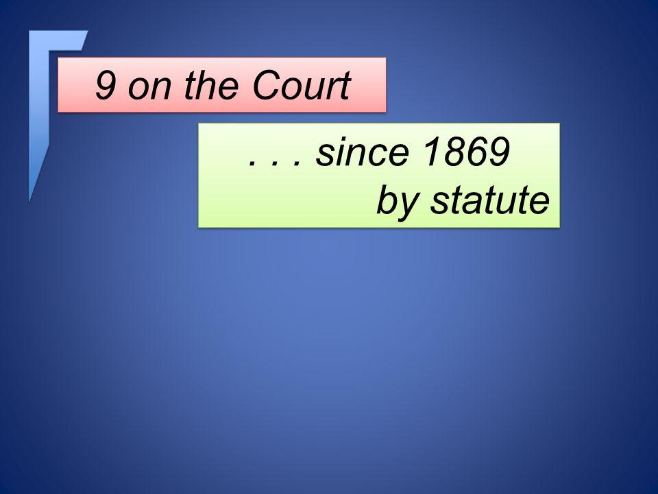 ... since 1869 by statute... since 1869 by statute