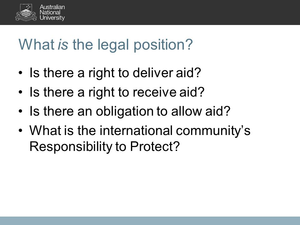 The Red Cross/Red Crescent IDRL Project IDRL = International Disaster Response Law, Rules and Principles.