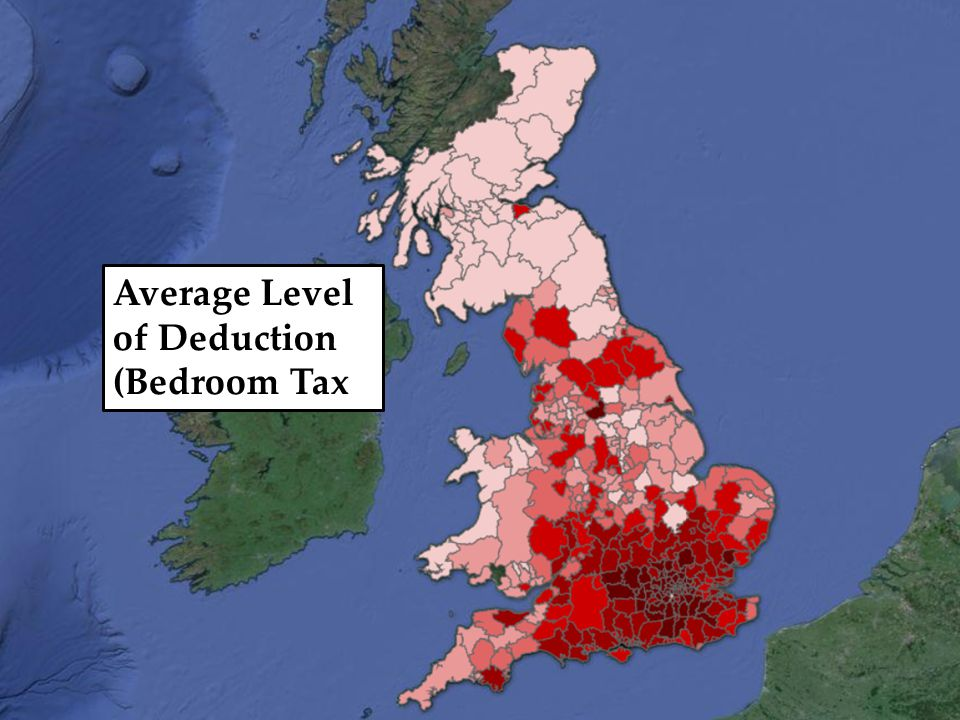 Average Level of Deduction (Bedroom Tax)