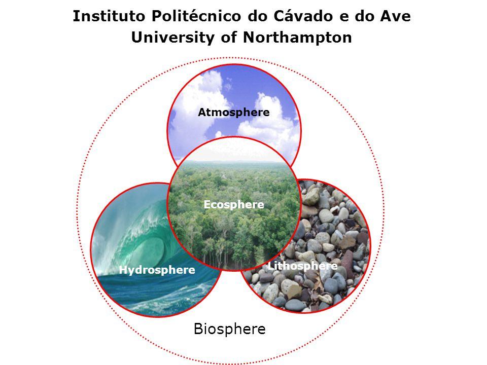 Biosphere Atmosphere Lithosphere Hydrosphere Ecosphere Instituto Politécnico do Cávado e do Ave University of Northampton