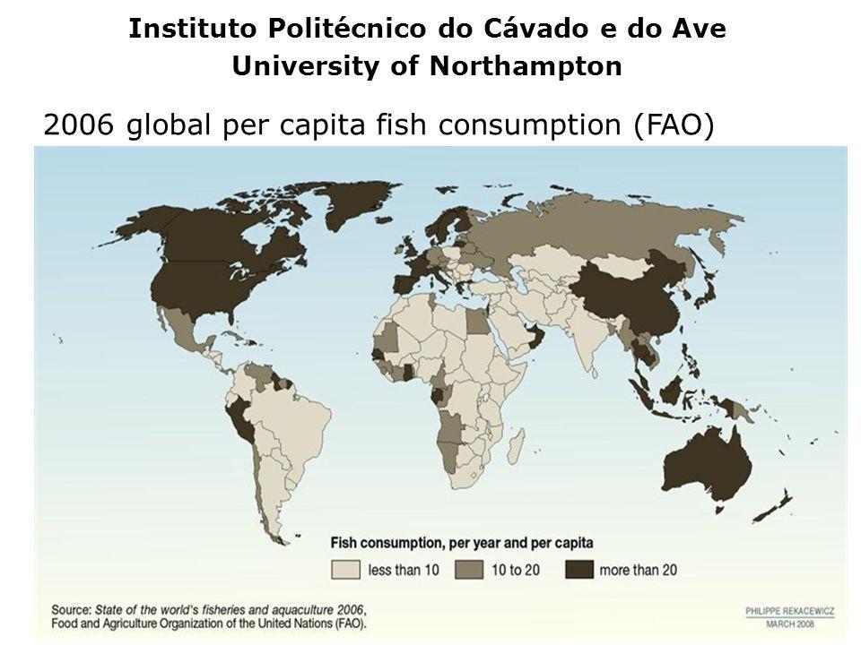 2006 global per capita fish consumption (FAO) Instituto Politécnico do Cávado e do Ave University of Northampton
