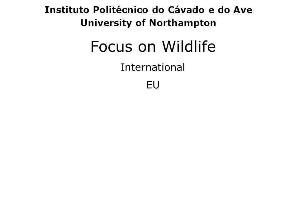 Focus on Wildlife International EU Instituto Politécnico do Cávado e do Ave University of Northampton