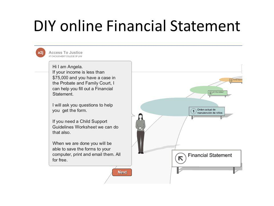 DIY online Financial Statement