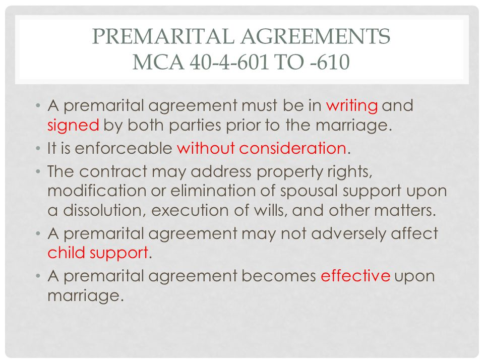 MARITAL ESTATE The marital estate consists of all property owned by either or both spouses, including property acquired prior to marriage or property acquired by gift or inheritance.