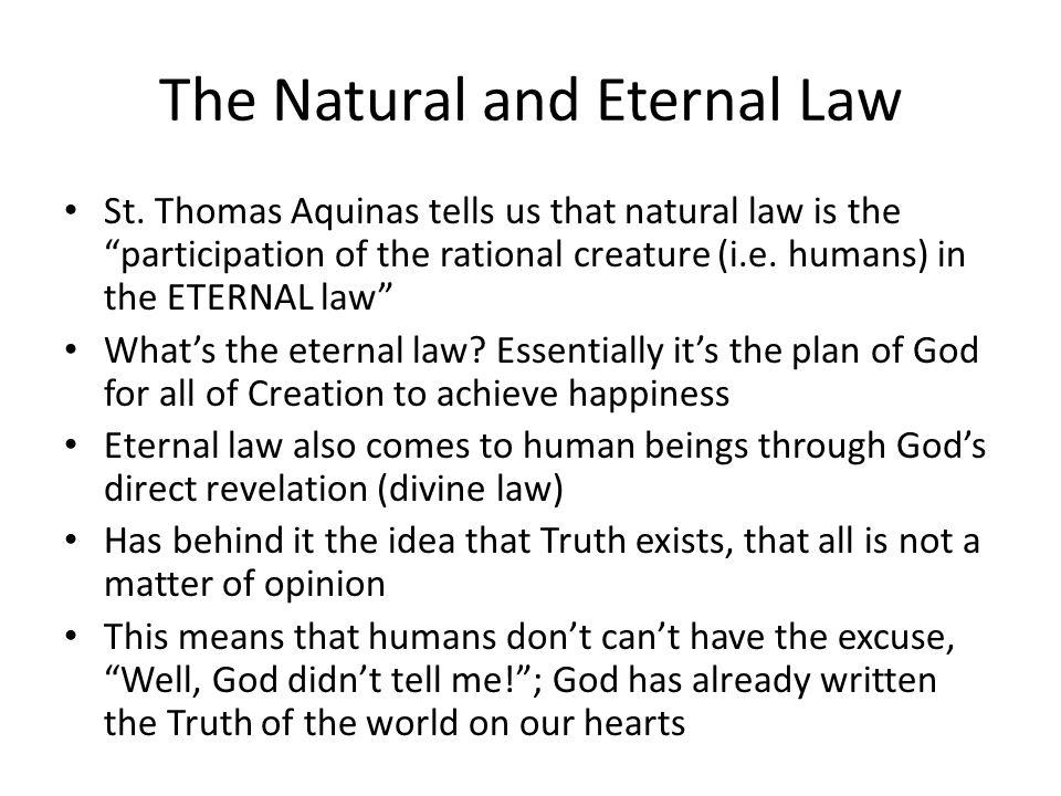 The Natural and Eternal Law St.