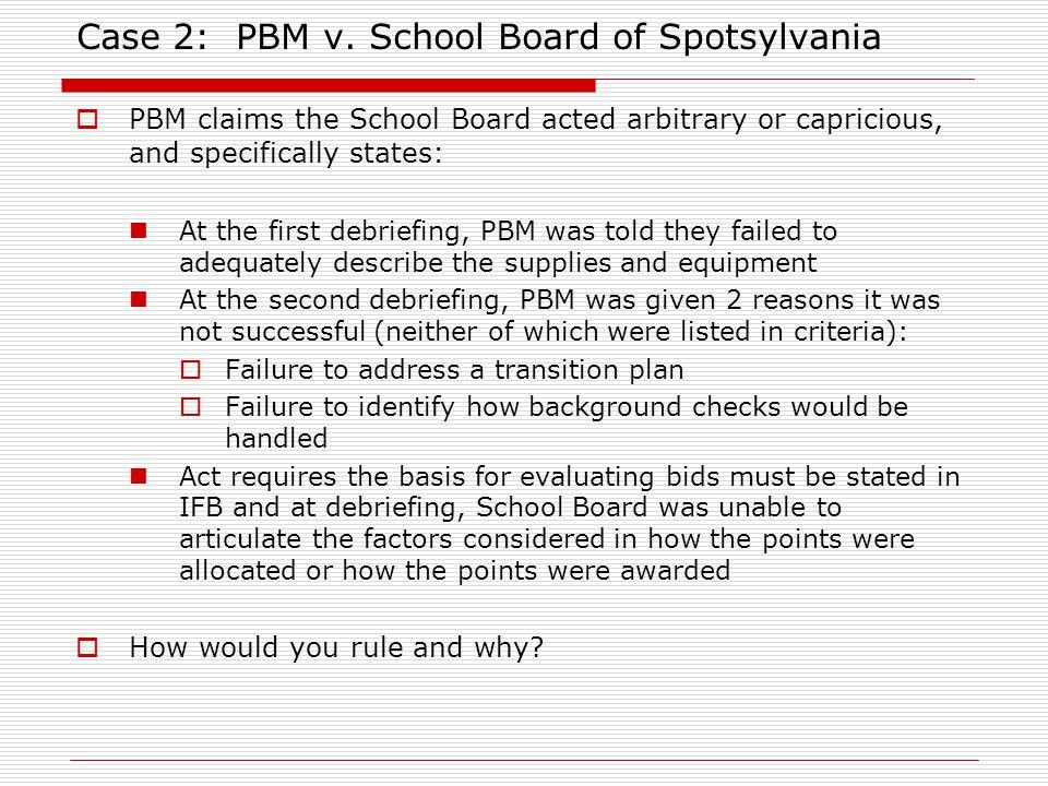 Case 2: PBM v.