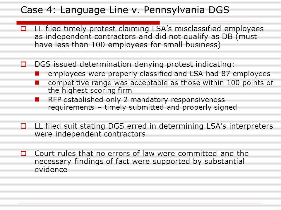 Case 4: Language Line v.