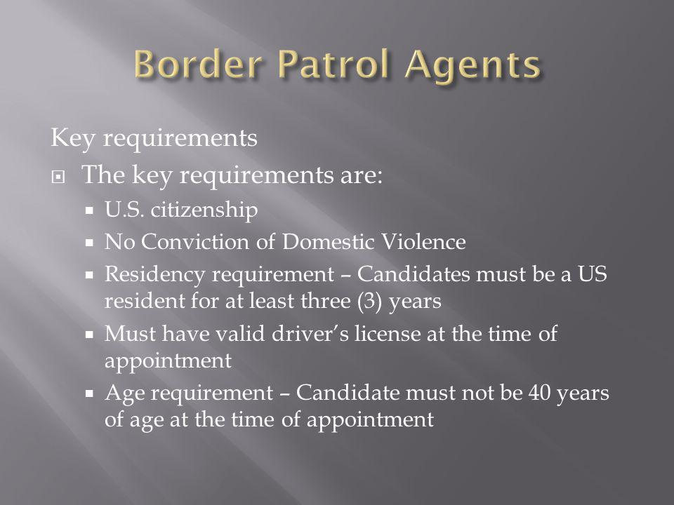 Key requirements The key requirements are: U.S.