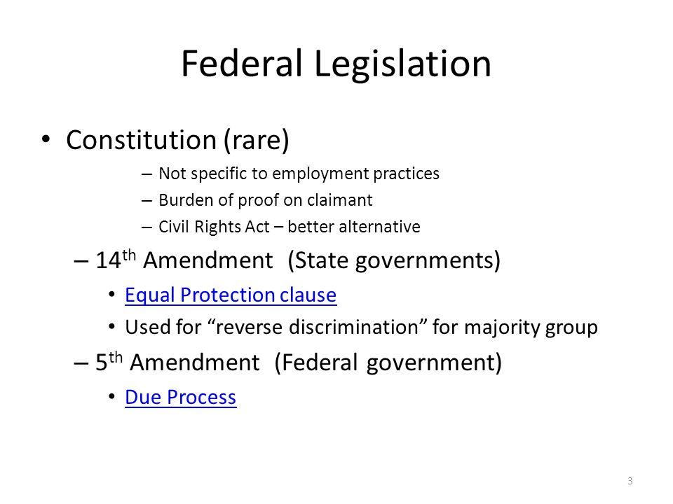 Federal Legislation Equal Pay Act (1963) – Gender: Equal pay for equal work What are the implications for JA.