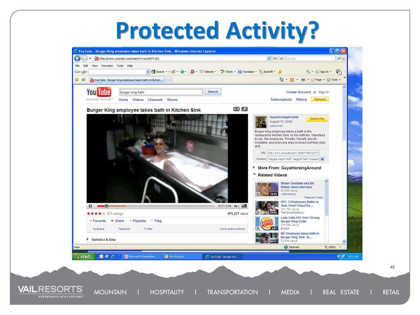 Protected Activity? 40