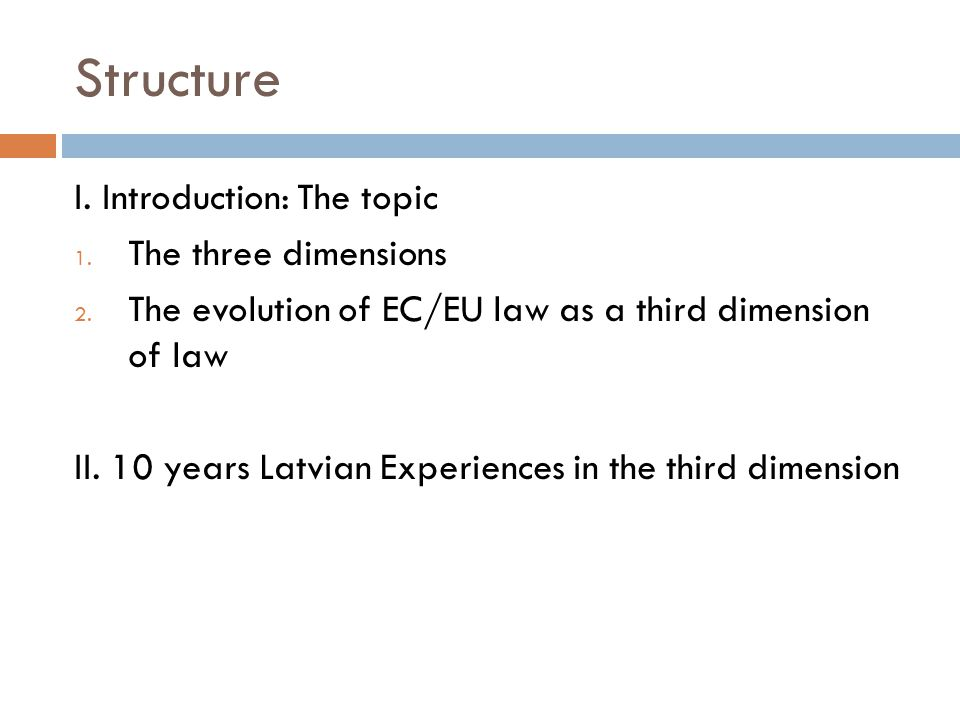 From two to three Dimensions Introduction The traditional division in national and public international law (PIL) Implications of the two-dimensionality PIL traditionally regulates a minimum in international relation Subjects of IL as principal actors Sources of law - PIL PIL based on sovereignty of states A concept of sovereign states and national laws