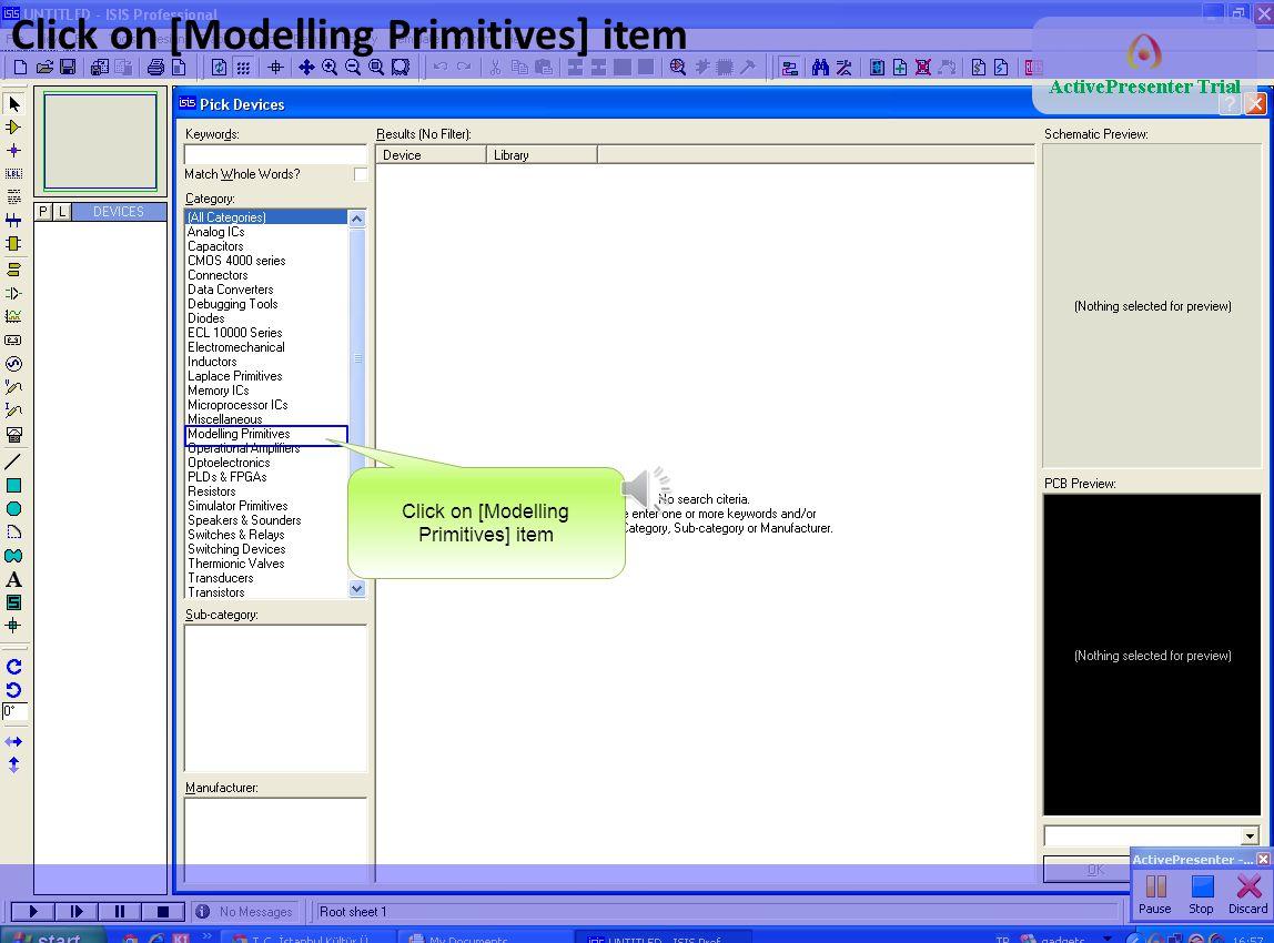 Click on [Modelling Primitives] item