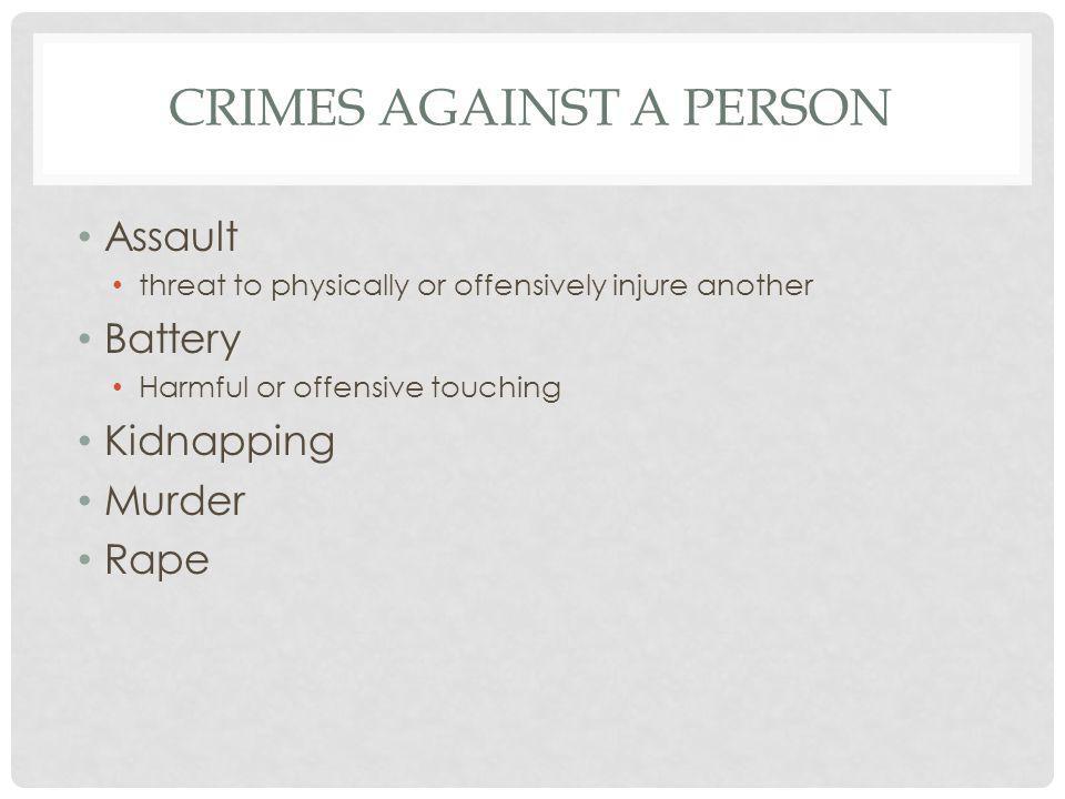 CLASSIFICATION OF CRIMES Felony Misdemeanor