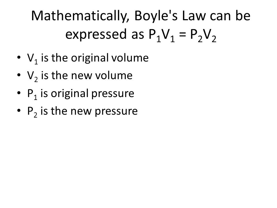 EXAMPLE If you have a 1 cubic foot balloon and double the pressure on it, it will be compressed to 1/2 cubic foot.