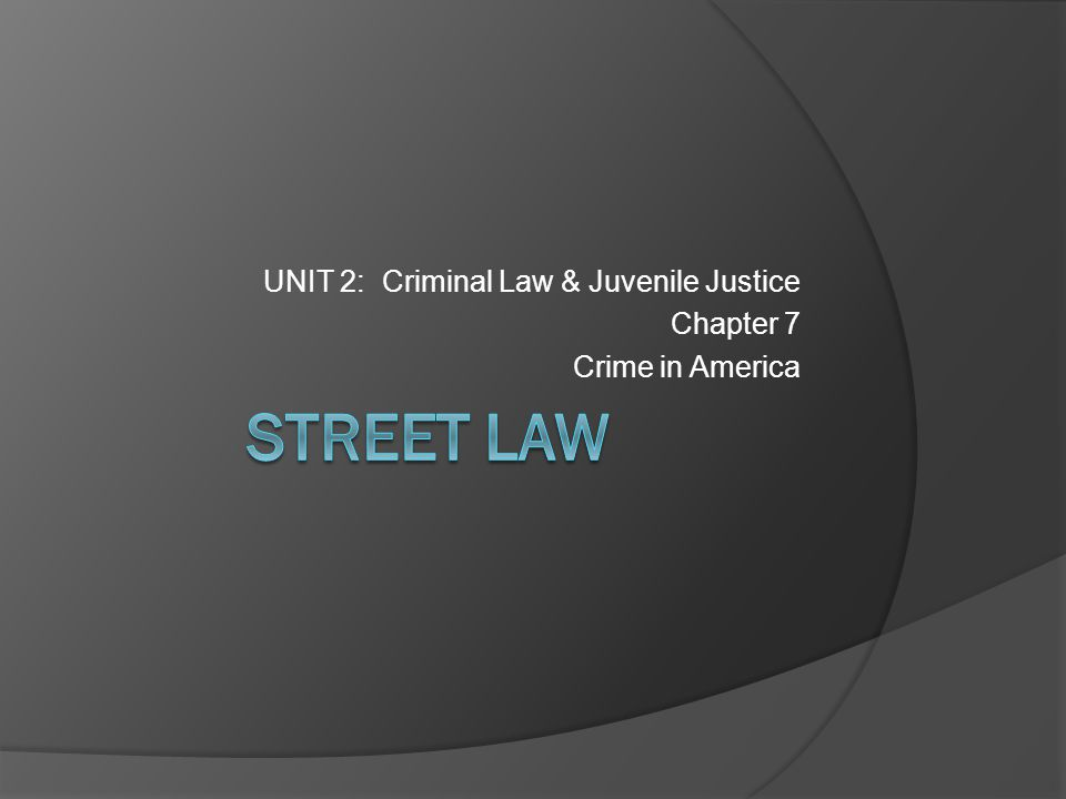 A crime is the violation of a law established to protect people & maintain an orderly society People everywhere are affected by crime; however, certain factors such as age, gender, & location influence the likelihood of becoming a victim of crime Criminals in the U.S.
