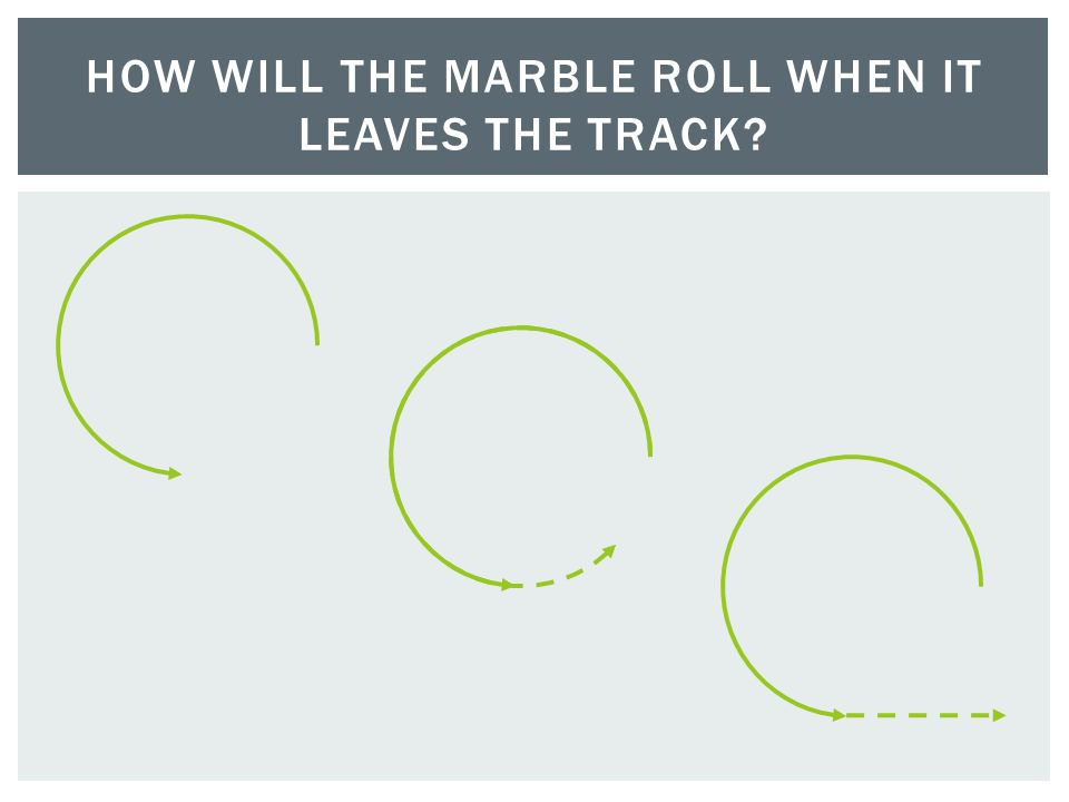 HOW WILL THE MARBLE ROLL WHEN IT LEAVES THE TRACK