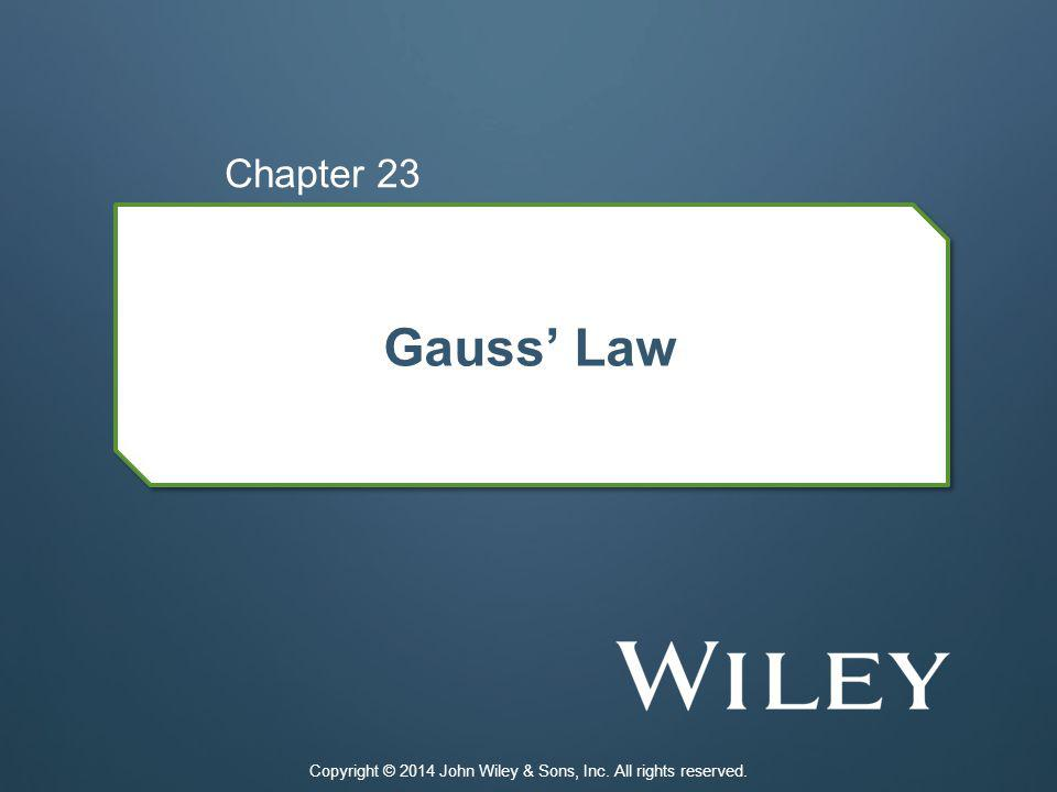 23-1 Electric Flux 23.01 Identify that Gauss law relates the electric field at points on a closed surface (real or imaginary, said to be a Gaussian surface) to the net charge enclosed by that surface.