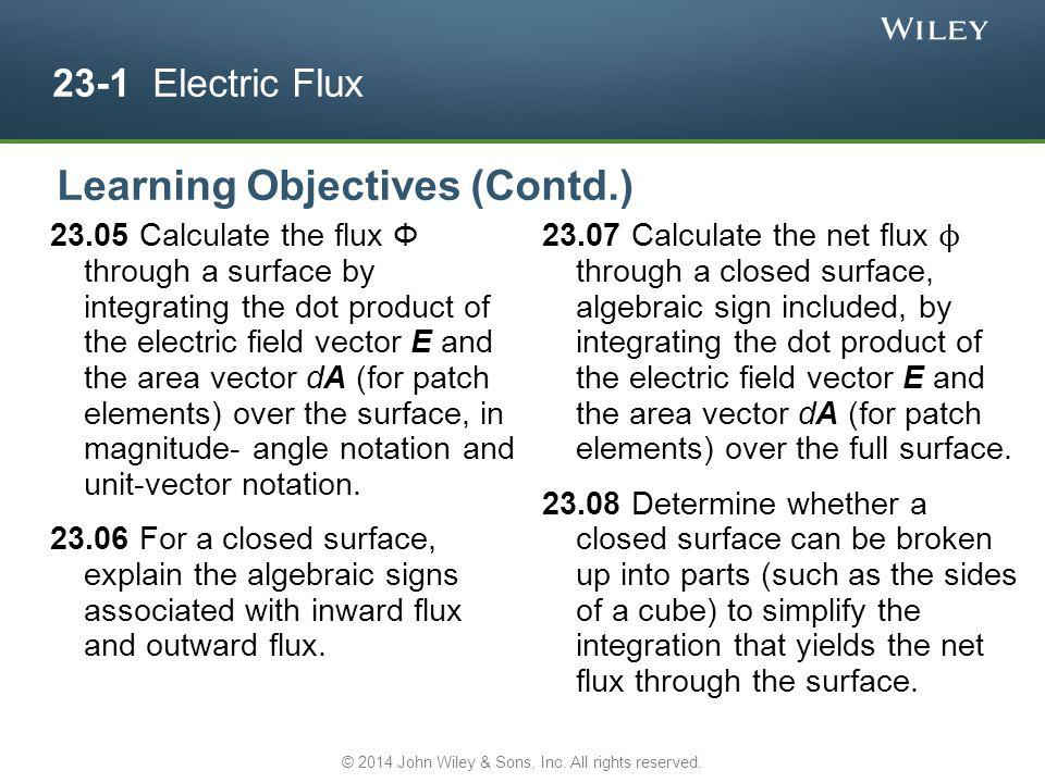 23-1 Electric Flux Electric field vectors and field lines pierce an imaginary, spherical Gaussian surface that encloses a particle with charge +Q.