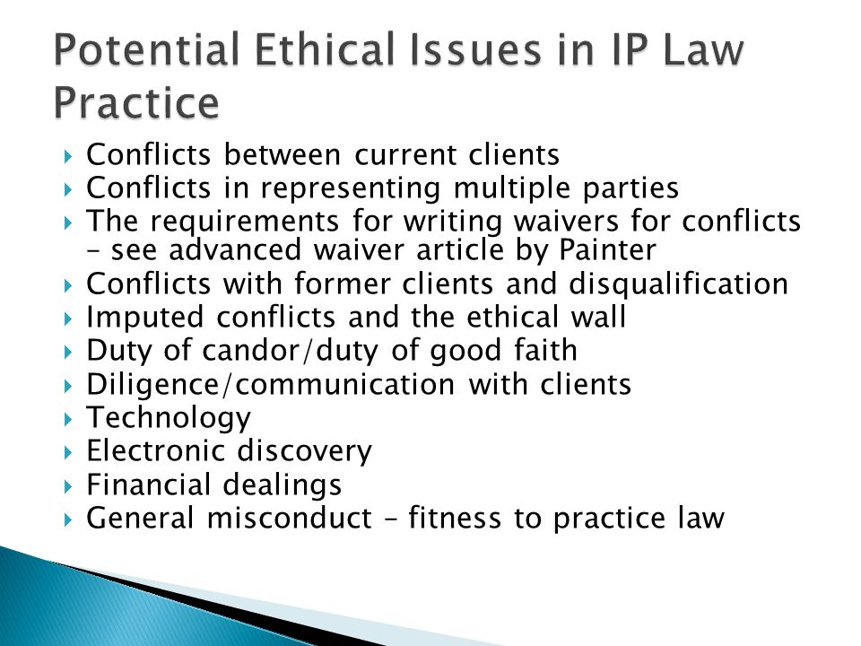 Responsibility for information security Competent use and management of technology Managing information security and resources Preserving privilege, confidences and privacy Client consent and participation in risk Communication with courts and other official entities Retention, migration and destruction of client information (Nelson and Simek)