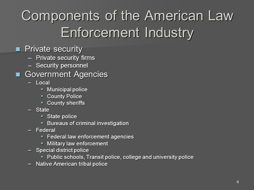 5 Size and Scope of Law Enforcement 17,876 law enforcement agencies in U.S.